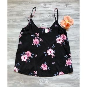 Floral cropped tank top 🌸